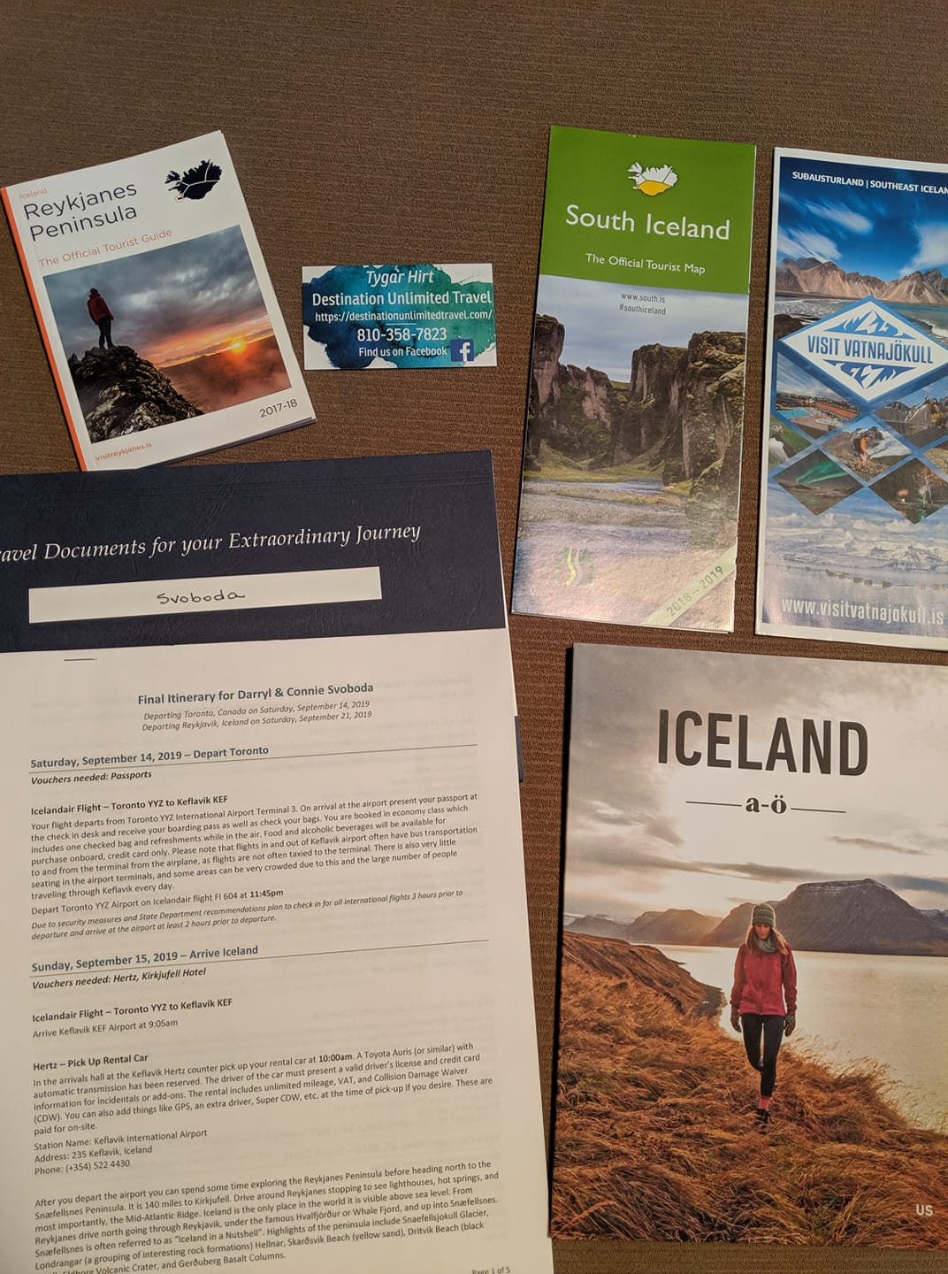 Tonight I'm getting documents ready for some clients heading to Iceland in …