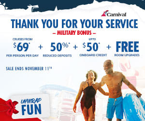 To honor America's active and retired military Carnival has